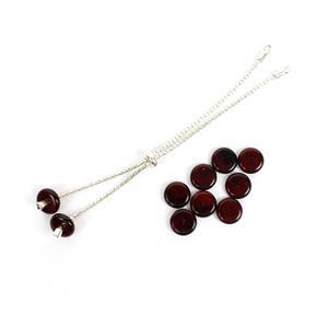 Black Friday Special! Sterling Silver Slider Cherry Amber Disks & Cherry Disk Beads.