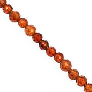 35cts Hessonite Garnet Faceted Round Approx 3.50mm, 39cm Strand