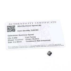 0.85ct Burmese Spinel 6mm Cushion (N)