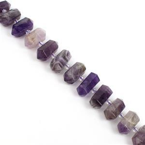 300cts Amethyst Fancy Columns Approx 12x28mm, 12 pcs