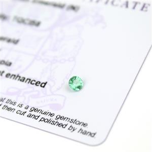 0.2cts Ethiopian Emerald 4x4mm Round  (N)