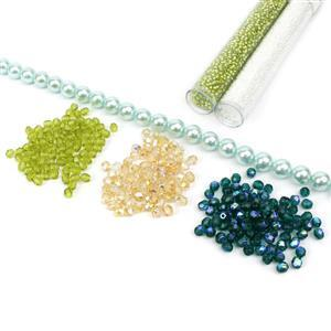 Spring Green Abacus Beads