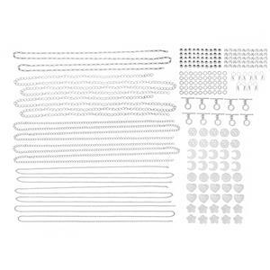 Silver Plated Base Metal Bumper Findings Pack (228pcs)