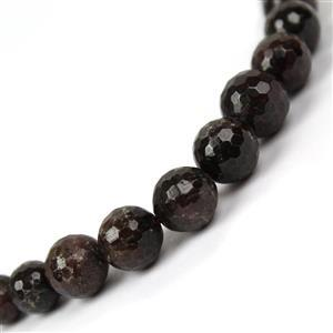 240cts Garnet Graduated Faceted Round Approx 5 to10mm, 38cm