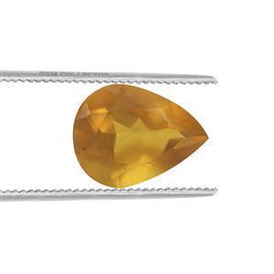 0.65cts Burmese Amber 10x8mm Pear  (N)
