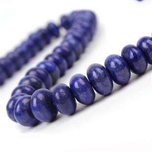 310cts Dyed Lapis Lazuli Plain Rondelles Approx 10x6mm, 38cm Strand