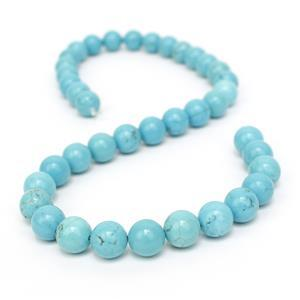270cts Turquoise Plain Rounds Approx 10mm 38cm