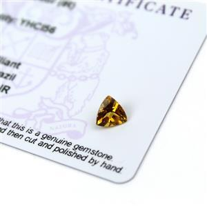 0.75cts Xia Heliodor 7x7mm Triangle  (I)