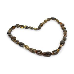 Baltic Earthy Amber Beads, Approx. 10x7mm-16x8mm (38cm Strand)