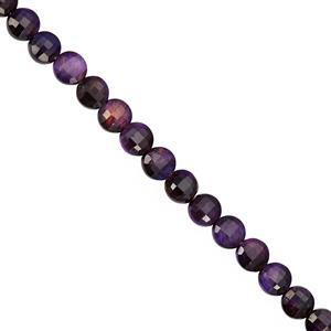 28cts Purple Tigers Eye Faceted Coin Approx 4 to 4.50mm, 30cm Strand