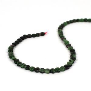 60cts Ruby Zoisite Faceted Hearts Approx 6mm, 38cm