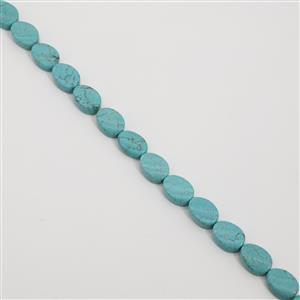 300cts Dyed Light Blue Magnesite Twist Ovals Approx 18x13mm, 38cm Strand