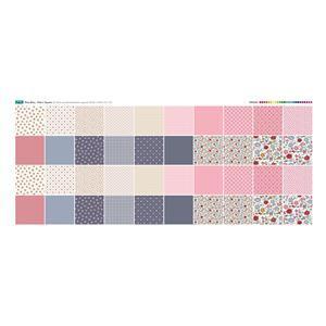 "Ditsy Bitsy 40 5"" Fabric Squares Panel: 140 x 59cm"