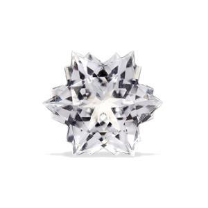 2.4cts White Topaz 8x8mm Snowflake  (N)