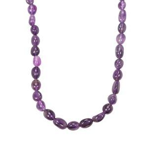 Zambian Amethyst Bead Necklace in Sterling Silver 103cts