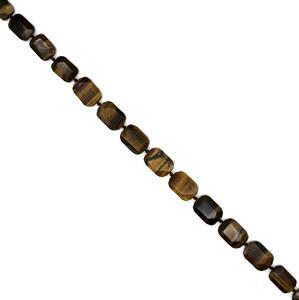 "280ct Yellow Tigers Eye Faceted Slab Loose Beads Strand 15"" 13x18-16x22mm"