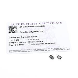 0.9ct Burmese Spinel 6x4mm Cushion Pack of 2 (N)