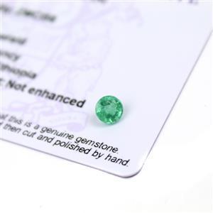 0.5cts Ethiopian Emerald 5.5x5.5mm Round  (N)