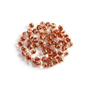 Round Pressed Crystal Sunset Beads, 8mm (100pcs)