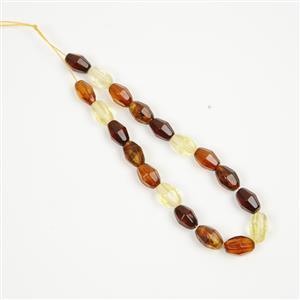 Baltic Multi Colour Amber Bobbi Beads Approx. 12x6mm, 20cm Strand (Inc. Cognac, Cherry, Lemon, Earthy)