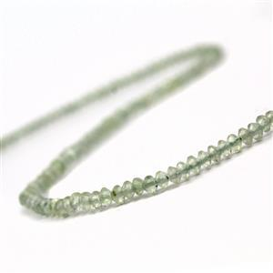 20cts Prehnite Faceted Saucers Approx 3x1.5m, 38cm
