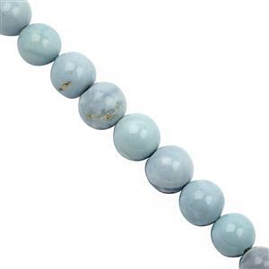 45cts Blue Opal Graduated Smooth Round Approx 5 to 8mm, 19cm Strand