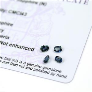 0.65cts Nigerian Sapphire 4x3mm Fancy Pack of 4 (N)