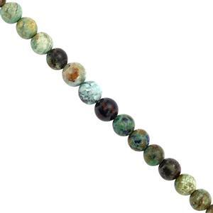 48cts Azurite Chrysocolla Smooth Round Approx 6mm, 20cm Strand