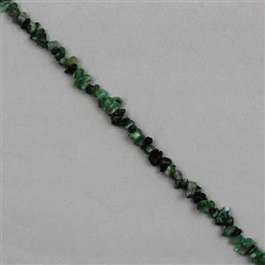 130cts Emerald Plain Small Nuggets Approx From 2x1 to 8x3mm, 82cm Strand.