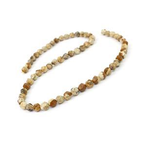 70cts Picture Jasper Star Cut Rounds Approx 6mm, 38cm Strand
