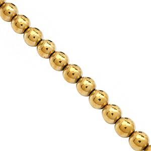 375cts Golden Haematite Plain Round Approx 8.5mm, 39cm Strand