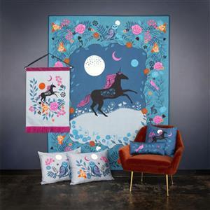 "Ruby Star Society Crescent Magic Unicorn Fabric Panel by Sarah Watts (99"" x 108"")"