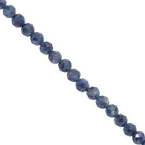 45cts Blue Sapphire Faceted Round Approx 4mm, 25cm Strand