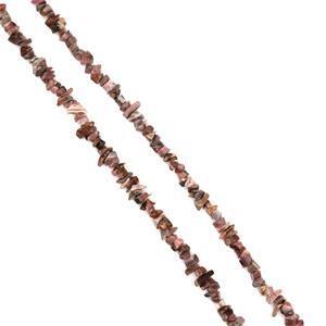 Rhodochrosite chips strand Approx 86cm