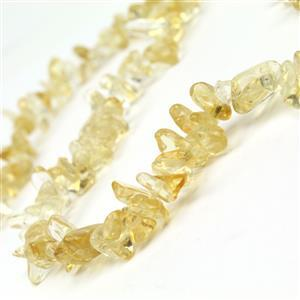 180cts Citrine Long Chips Approx 4x7-6x15mm, 38cm Strand