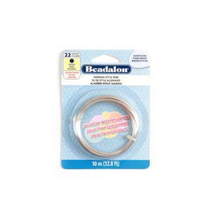 Beadalon Silver Plated German Style Round Wire, 22 Gauge/0.64mm, 32.8ft/10m