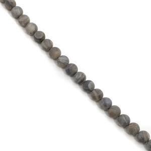 272cts Labradorite Matt Finish Frosted Rounds Approx 10mm, 38cm Strand
