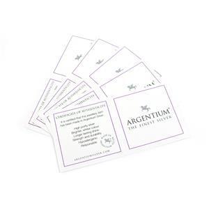Argentium Certificate of Authenticity 48cm x 48cm (5pk)
