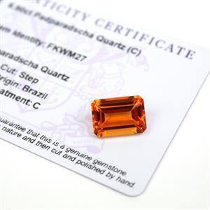 6.9cts Padparadscha Quartz 14x10mm Octagon  (C)