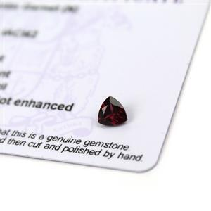 0.65cts Tocantin Garnet 6x6mm Triangle  (N)