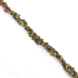 "1000cts Unakite Chips Approx 4x7 to 5x8mm, 100"" Endless Chips Strand"
