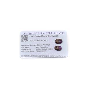 8.65cts Copper Mojave Amethyst 14x10mm Oval Pack of 2 (R)