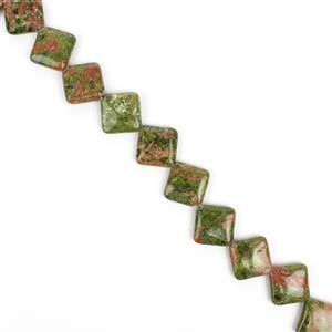 410cts Unakite Puffy Diamonds Approx 20mm, Approx 38cm strand