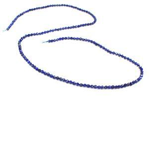 10cts Lapis Lazuli Faceted Rounds Approx 2mm 38cm strand