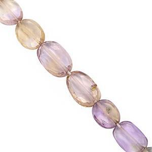 22cts Ametrine Faceted Oval Approx 5.5x4 to 8x6mm, 20cm Strand