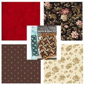 Wildflower Woods Autumn Twist Quilt Kit: Book, Fabric (6.5m)