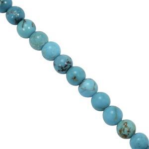 22Cts Sleeping BeautyTurquoise Smooth Round Approx 4mm 19cm Strand