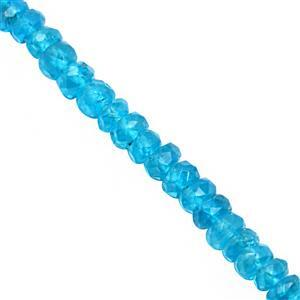 22cts Neon Apatite Graduated Faceted Rondelle Approx 2x1 to 3.5x1.5mm, 19cm Strand