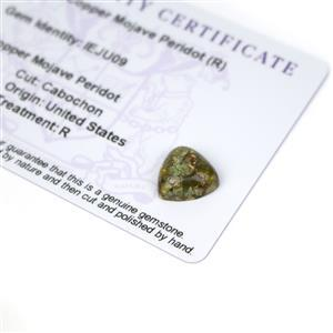 4.25cts Copper Mojave Peridot 12x12mm Triangle  (R)