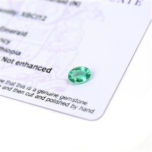 0.6cts Ethiopian Emerald 7x5mm Oval  (N)